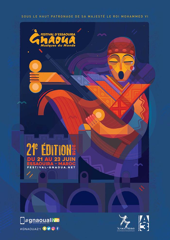21ème édition du Festival Gnaoua & Musiques du Monde d'Essaouira du 21 au 23 juin
