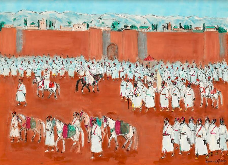 La Marocaine des Arts - Hassan EL GLAOUI - Tableau Beia