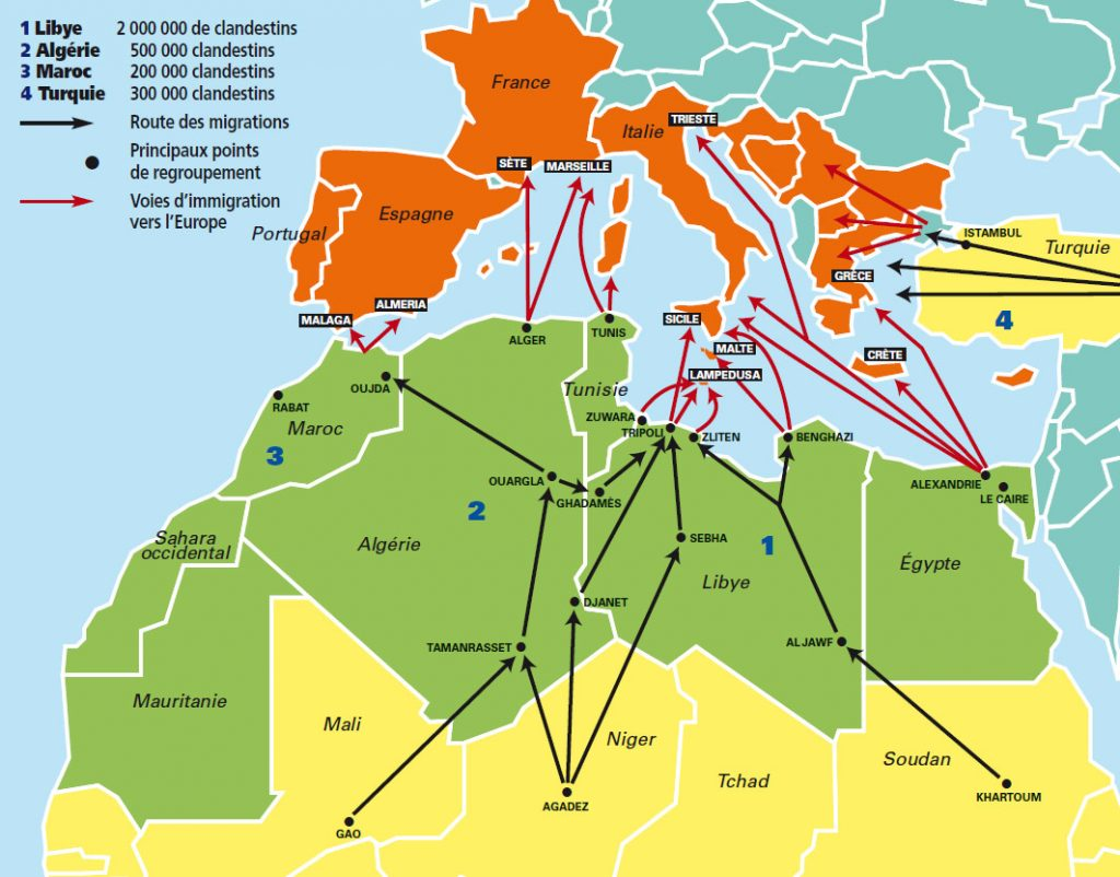 flux migratoires maroc