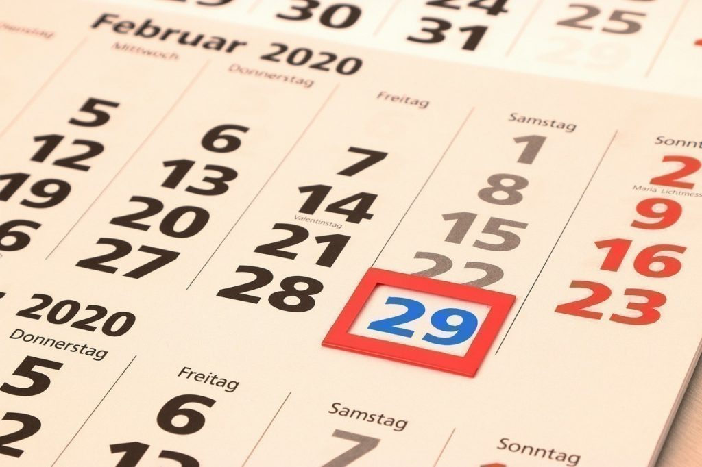 Année bissextile - 29 février